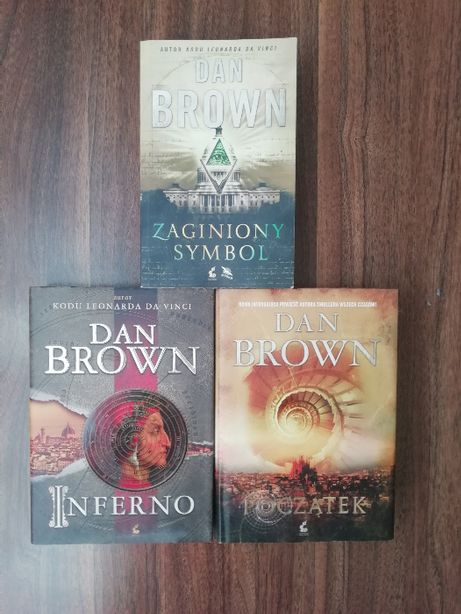 Dan Brown: Początek, Inferno, Zaginiony Symbol