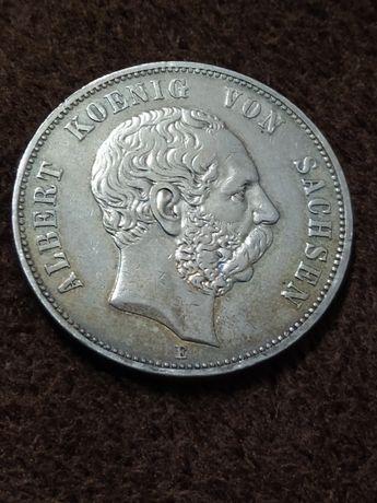 5 marek 1901 E Albert Koenig von Sachsen