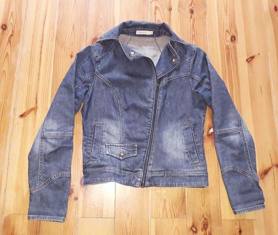 Ramoneska blue jeansowa przecierana 38