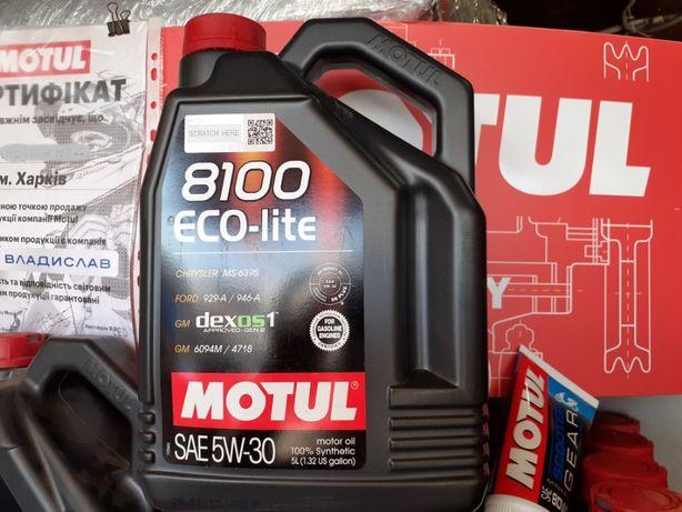 Моторное масло MOTUL [Мотюль] 5W-30 8100 ECO-lite (5 л) ПОДБОР
