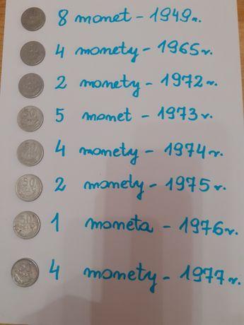 Moneta 50 groszy- 63 sztuki z 15 roczników