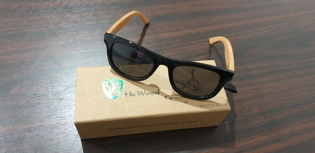 Dziecięce drewniane okulary przeciwsłoneczne NOWE