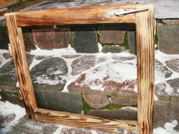 Stare okna drewniane retro loft lustro, zdjęcia 54x48