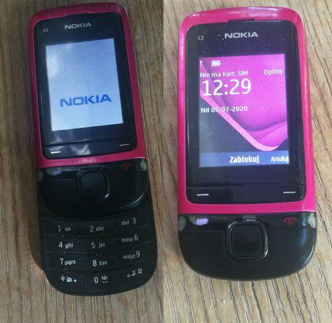 NOKIA C2-05 różowy rozsuwany telefon komórkowy