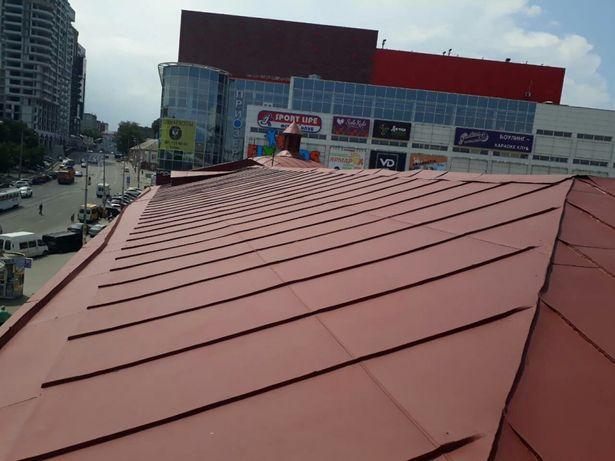 Покраска оцинкованых крыш