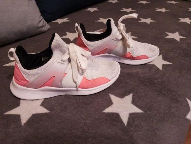 buty trampki sportowe różowe szare neonowe 37