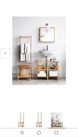 IKEA KRZESŁO, wieszak, bambus