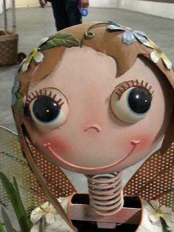 Boneca de jardim ou varanda ou para decoração de loja