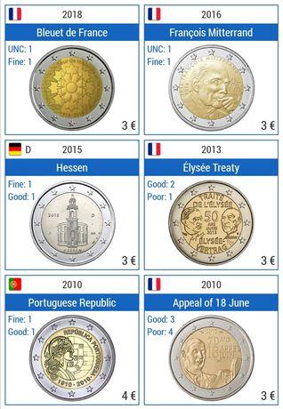 Troco Moedas Comemorativas 2 Euros
