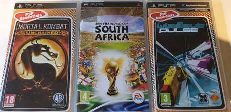 3 Jogos para PSP e 2 capas proteção PSP