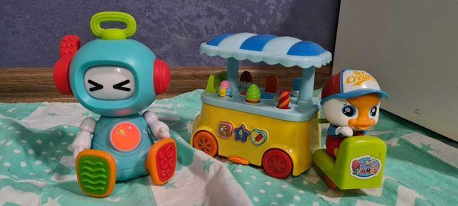 Набор из развивающих игрушек Sensory робот  и Huile Toys мороженщик