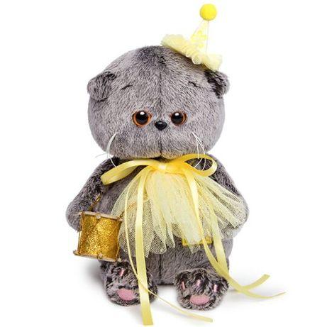 Мягкая игрушка Budi Basa кот Басик baby в колпачке с барабаном