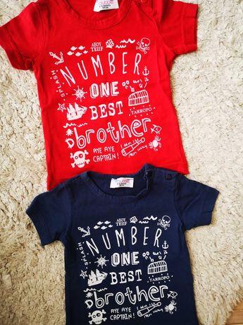 Детские футболки 6-9 месяцев