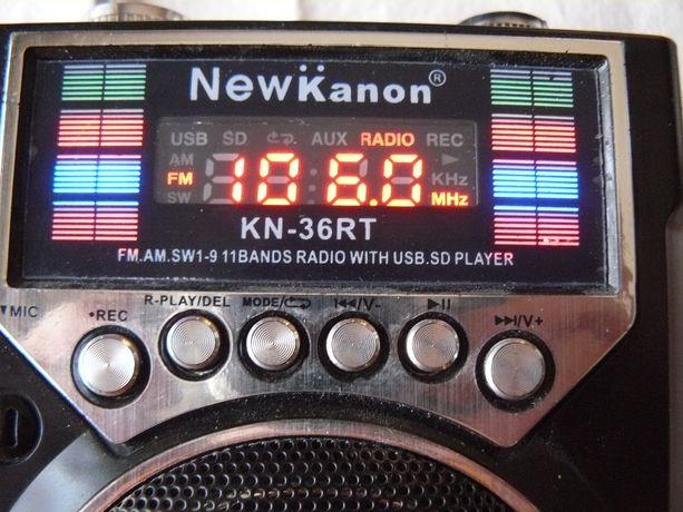 Radio przenośne z usb sd latarka aux mikrofon inne