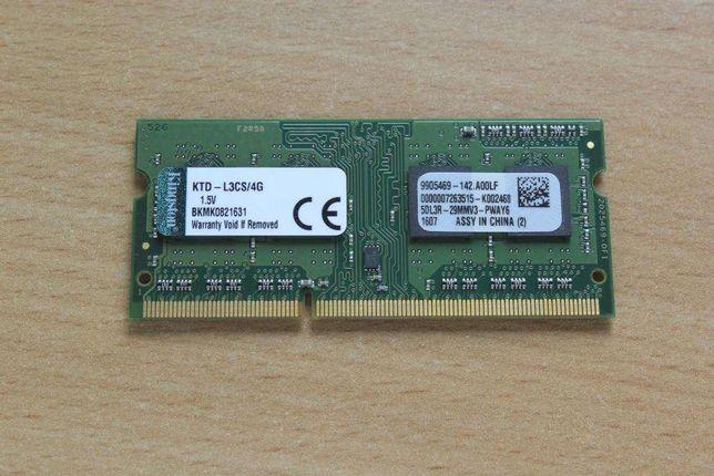 KINGSTON DDR3 4GB PC3-12800S 1600MHz nowe gw.12m.!