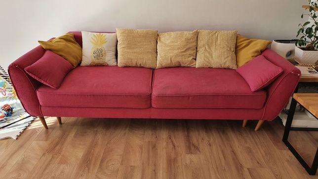 Różowa sofa za stówkę