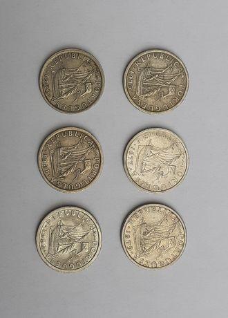 6 moedas de 2$50 de 1975 a 1982