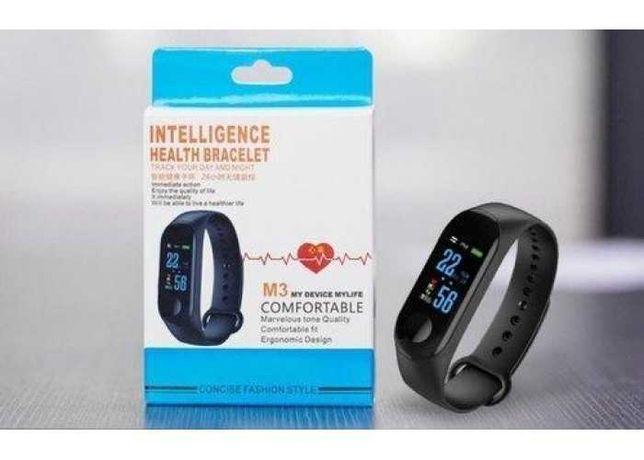 Фитнес браслет с измерением пульса Smart Watch M3 Black (черный)
