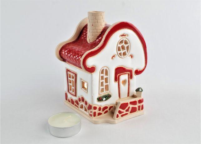 """Рождественский подарок. Керамический домик-подсвечник """"Романтика"""""""