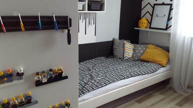 Łóżko dziecięce białe +materac 80x200