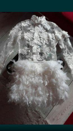Sukienka spódniczka body piórka  s M L Lou Louboutin Louis Vuitton