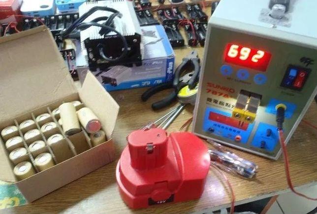 Ремонт (перепаковка, замена элементов) аккумуляторов для шуруповертов.