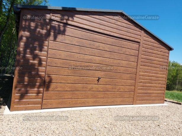 Garaż drewnopodobny 5x7 blaszak Premium bez pozwolenia