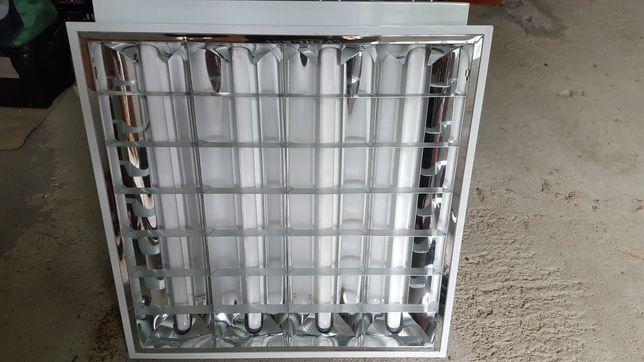 Armaduras fluorescentes 4×18w possível adaptar para led