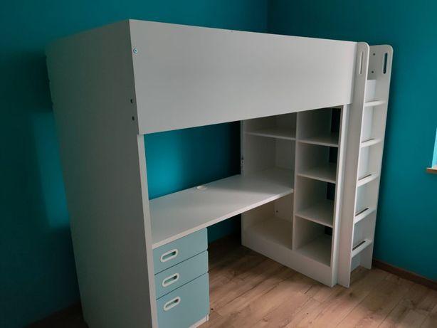 Łóżko na antresoli + biurko IKEA Stuva