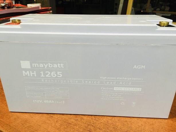 Akumulator Żelowy AGM MAYBATT MH 1265 12V 65Ah