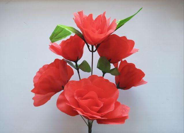 Букет искуственных роз, 35 см. Искуственные цветы, разные расцветки
