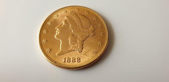 20 dolarów 1888 USD USA złoto mennicze Twenty Dolars  Stan idealny