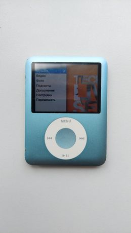 Apple Ipod nano 8gb голубой цвет.В рабочем состоянии