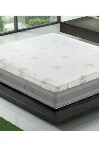 Materac aloe vera nakadka na łóżko memory foam 90x200cm nowe