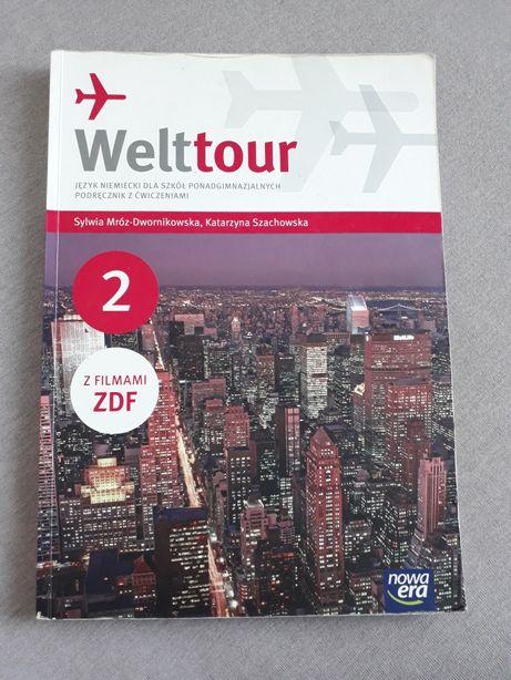 Welttour 2 JĘZYK NIEMIECKI LICEUM TECHNIKUM podręcznik z ćwiczeniami