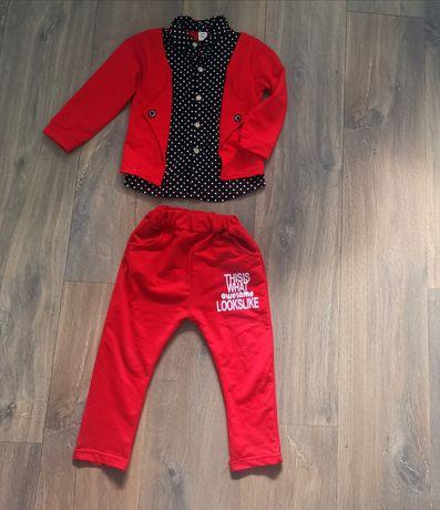 Czerwony komplecik dla chłopca r 92