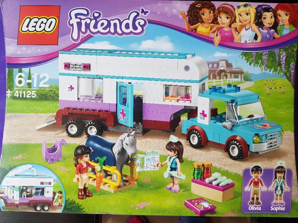 Oryginalne Lego Friends 41125 Przyczepa Lecznica dla Koni