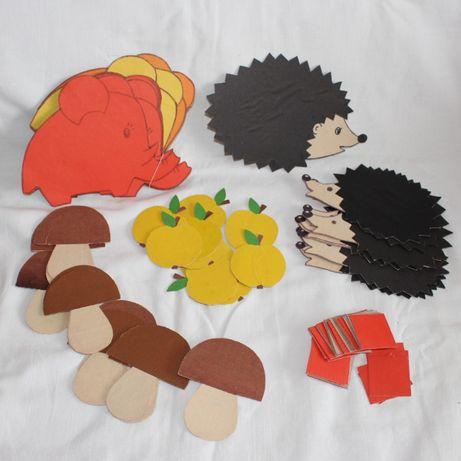 Счетный материал дошкольникам, первоклассникам - животные и предметы