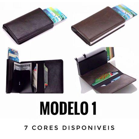 """Carteira com Porta Cartões RFID - Modelo 1 - Estilo """"Secrid"""""""