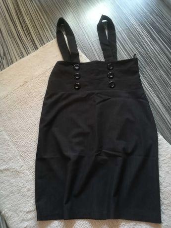 Elegancka spódnica ołówkowa z szelkami, rozm. 42 grafit