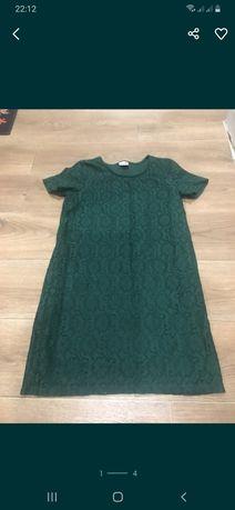 Изумрудное нарядное платье