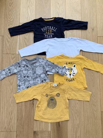 R. 68 zestaw komplet koszulki z dlugim rekawem bluzki Tape a loeil
