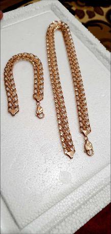Новый Комплект золотая цепь и брослет  585 , 1150 грн за грамм