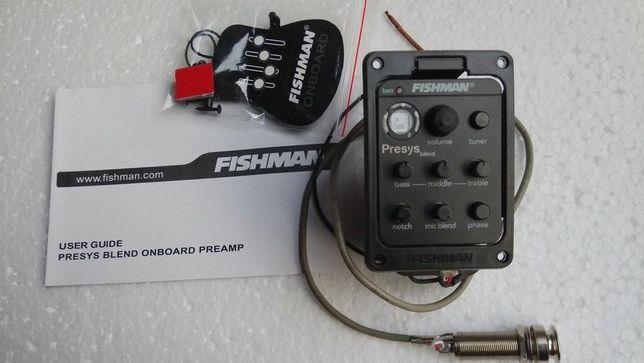 Nowy Preamp Equalizer Pickup Fishman Presys Blend 301 Gitara