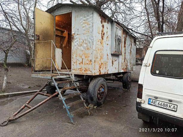 Продам строительную бытовку с отсеком для иструмента на колесах