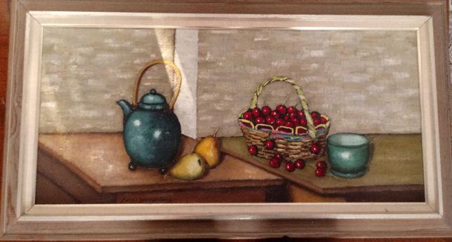 Obraz ręcznie malowany-martwa natura