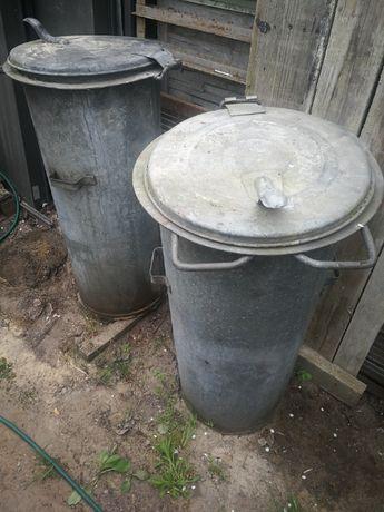 Śmietnik kosz na śmieci stalowy ocynkowane 2 sztuki pojemnik