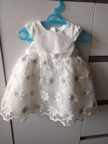 Sukienka do chrztu r.68 + gratisy