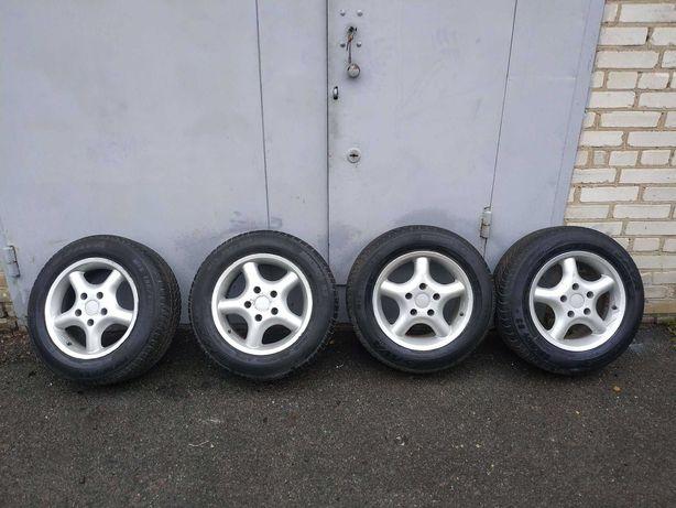 Продам зимову резину з титановими дисками 5Х120 R15 BMW E34/E39, б/у