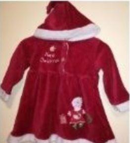 Платье мисис Клаус новогоднее платье на 3-6 месяцев